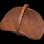 Large Splint Gathering Basket, Double Woven Bottom