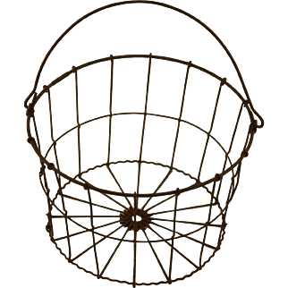 Small Vintage Wire Egg Basket