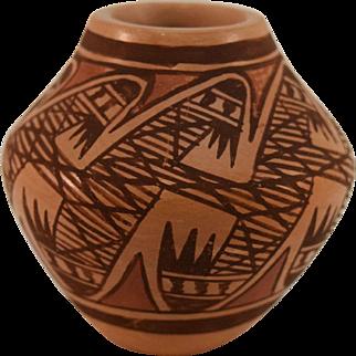 Miniature Hopi Pottery Seed Jar by Miriam Nampeyo