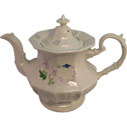 Ca. 1840 Soft Paste Hand Painted Teapot