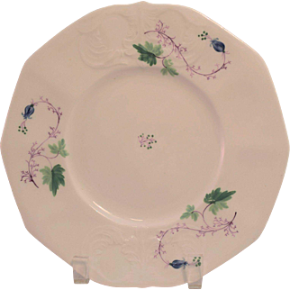Ca. 1840 Soft Paste Hand Painted Plate