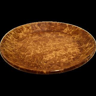 Sponged Yellow Ware Pie Dish