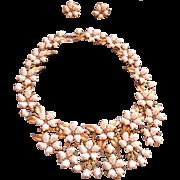 TRIFARI 1959 Sorrento Big Bib Necklace Earrings set parure