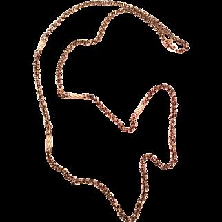Christian Dior 80's extra long silvertone and cream enamel neckace