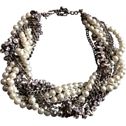 Kenneth lane faux pearls necklace