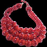 COPPOLA TOPPO for Capucci 1959 half crystal granes necklace