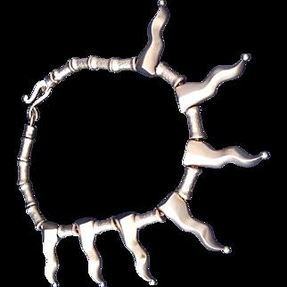 Karl Lagerfeld sun shape Necklace 80's piece