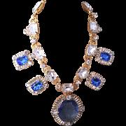 Larry VRBA blue cut stones necklace