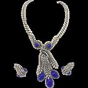 Napier Blue  Faux Lapis Necklace Earrings set