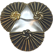 1940's pure Deco Jelly Belly pin brooch