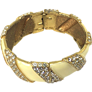 Ciner enamel Rhinestones hinged bracelet