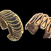 Matisse Renoir Copper Cuff bracelet set
