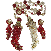 Amazing Chanel Gripoix on the book Necklace earrings set glass and fax pearls  parure