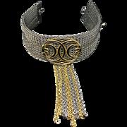 SANDOR Enamel Chain Tassel Collar Necklace