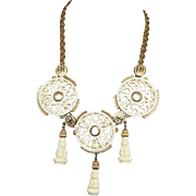 Hattie Carnegie Chinese Lucite circles pendant necklace
