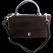 PIERRE CARDIN Burgundy Leather Vintage Bag