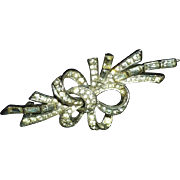 BOUCHER  Rhinestone bow spray pin Brooch