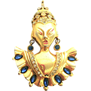 REINAD Asian Princess Catalogue Pin Brooch