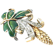 DEJA  Reja early mark Enamel Giant AMAZING Tridimensional Pine Cone  Pin Brooch