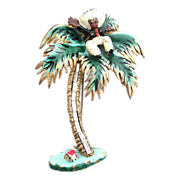 Chanel Reinad Novelty 1941 Mexican on a Palm Book piece pin Brooch!!!