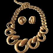 TRIFARI enamel Necklace earrings set parure