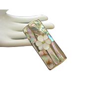Abalone and Mother of Pearl Lighter Case, Mexico