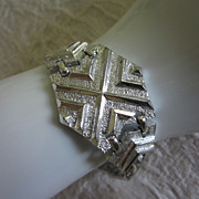 Vintage Sarah Coventry Mod Silver Tone Bracelet ~ REDUCED!