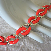Vintage Bright Orange Thermoset Bracelet ~ REDUCED!!