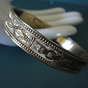 Vintage Whiting & Davis Silver Tone Bangle Bracelet ~ REDUCED!!