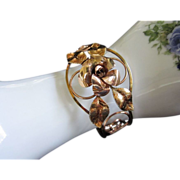 Krementz Rose and Yellow Gold Cuff Bracelet ~ REDUCED!!