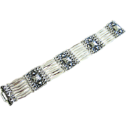 Vintage Sterling Silver Bracelet, Mexico ~ REDUCED!