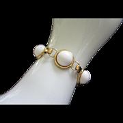 Vintage Monet White Thermoset Bracelet ~ REDUCED!!