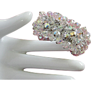 Vintage Japan Aurora Borealis Crystal Cha Cha Bracelet ~ REDUCED!