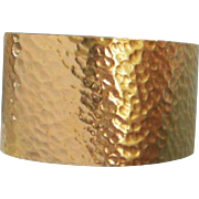 Trifari Hammered Gold Tone Cuff Bracelet ~ REDUCED