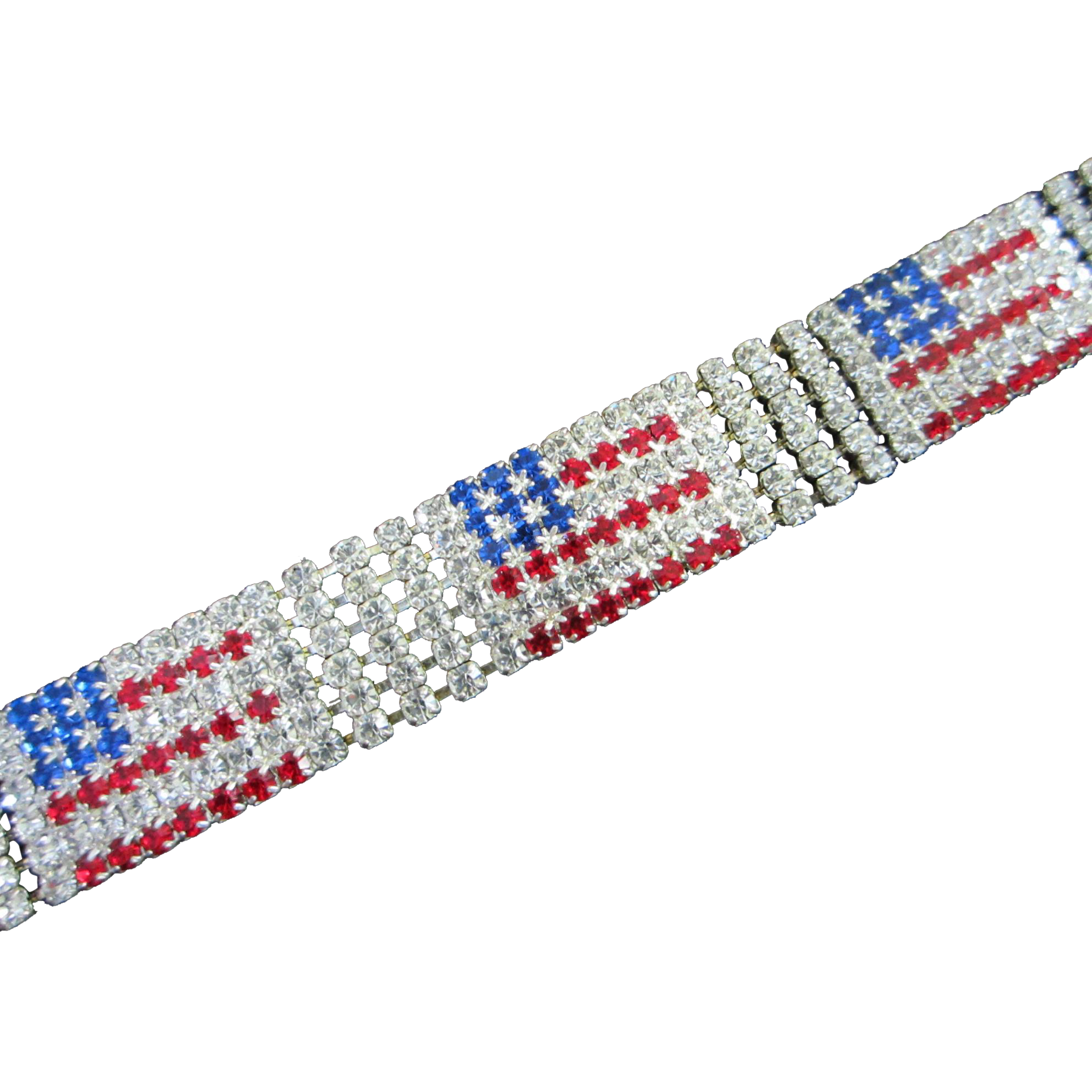Brilliant And Patriotic Rhinestone American Flag Bracelet Sarafina S Ruby Lane