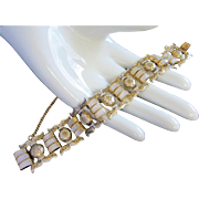 Vintage Damascene and Mother of Pearl Bracelet ~ REDUCED!!!