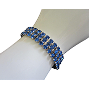 Brilliant Capri Blue Rhinestone Bracelet