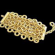 Vintage Carlisle Wide Multi Chain Bracelet with Circles