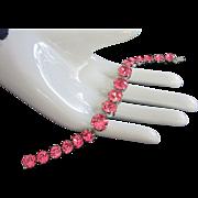 Dazzling Vintage Fuchsia Rhinestone Bracelet