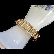 Vintage Mixed Metal Gold, Silver Tone Elephant Bracelet