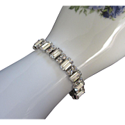 Brilliant Clear Rhinestone Vintage Bracelet