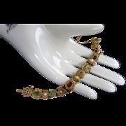Goldette Charming Victorian Style Vintage Slide Bracelet