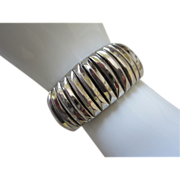 Vintage Silver Tone Expansion Bracelet, Signed ~ REDUCED!