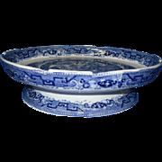Rare Antique Blue Willow Cake Plate, Circa 1890's