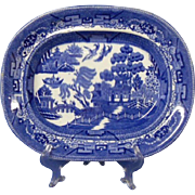 Wedgwood Blue Willow Platter, Early 1900's