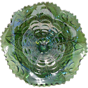 Imperial Glass Emerald Green Compote Dish