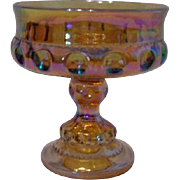 Indiana Glass Amber Carnival Glass Compote Dish