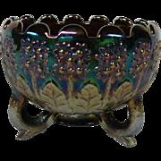 Fenton Carnival Glass Amethyst Rose Bowl in the Orange Tree Pattern