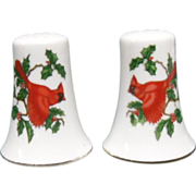Lefton Christmas Cardinal Holiday Salt & Pepper Shakers