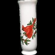 Lefton Christmas Cardinal Small Holiday Vase